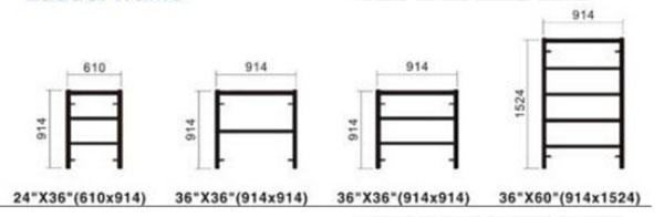 Ladder frame sizes